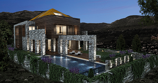 Architecture & Interior Projects lebanon faraya project ronald baz
